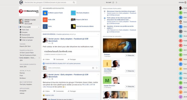 Workplace by Facebook en images