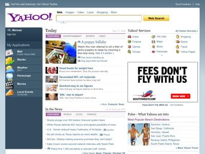 voici l'un des prototypes de la nouvelle page d'accueil de yahoo