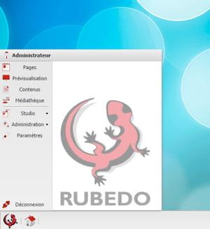 rubedo menu démarrer