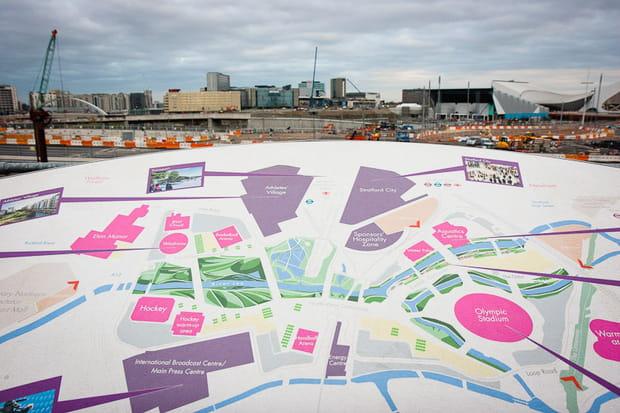 JO de Londres 2012 : chantier du parc olympique