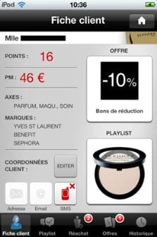 capture de l'application mysephora