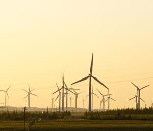 56% des équipements mondiaux d'éoliennes proviennent de chine.