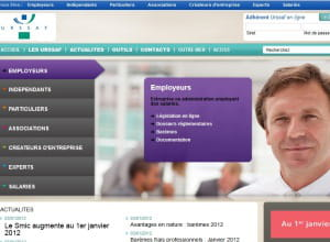 page d'accueil de urssaf.fr