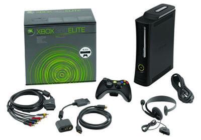 la x-box 360 elite, toute en noir