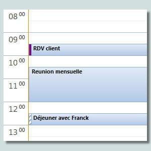 un agenda bien utilisé vous évite de rater des rendez-vous.