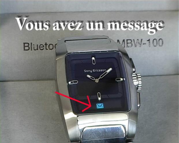 Réception d'un SMS