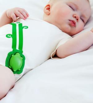le capteur mimo surveille les mouvements du bébé.