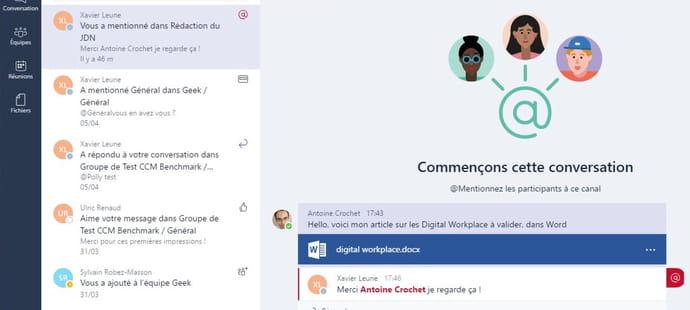 Test de Microsoft Teams: insuffisant mais peut mieux faire