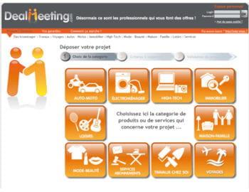 dealmeeting.com propose de déposer son appel d'offres de produit auprès d'un