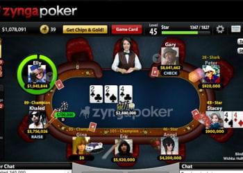 le succès du poker se décline également sur facebook.