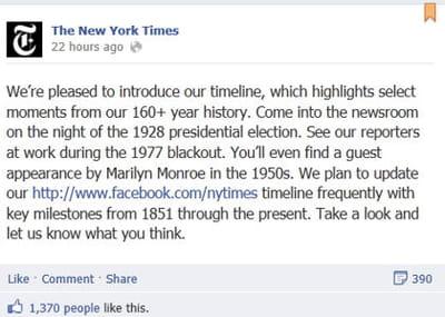 le new york times a décidé d'épingler le post expliquant la démarche de sa