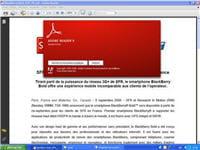 le lecteur de fichier pdf d'adobe