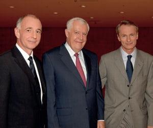 les trois gérants du groupe, didier miraton, michel rollier et jean-dominique