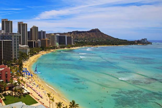 5e: Waikiki, Hawaï (Etats-Unis), 64,85€ par jour