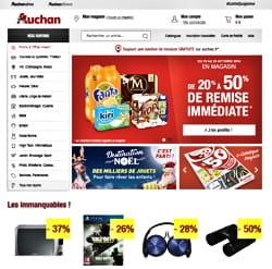 le site d'auchan d'e-commerce repose sur hybris.