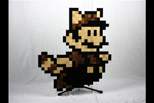 Pièces de bois pixel art