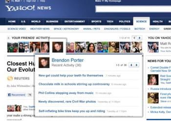les américains peuvent imbriquer les contenus de yahoo! et facebook.