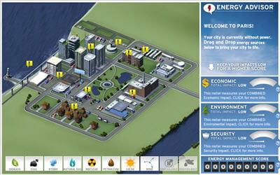 energyville, un jeu de simulation développé pour chevron