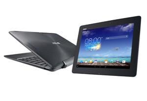 une tablette à 10 pouces android récente pouvant être rattachée à un clavier,