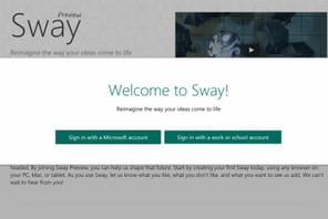 Avec Sway, Microsoft entend désormais contrer Prezi en entreprise