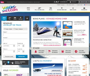 voyages-sncf.com : 7,2 millions de visiteurs par mois, selon la fevad.