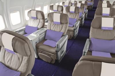 dans les avions d'openskies, il n'y a pas de classe éco, donc pas de rangée du