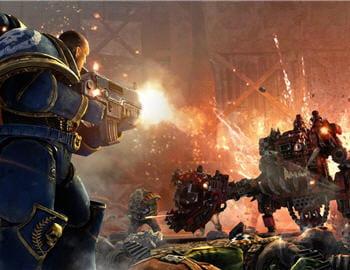 le jeu d'action warhammer 40 000 : space marine, actuellement en développement,