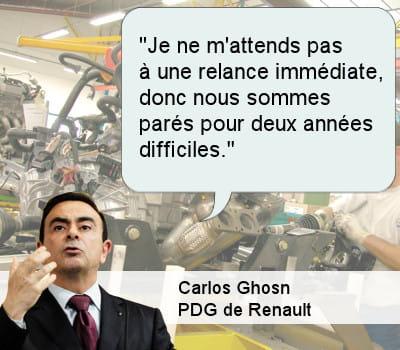 carlos ghosn, pdg de renault.