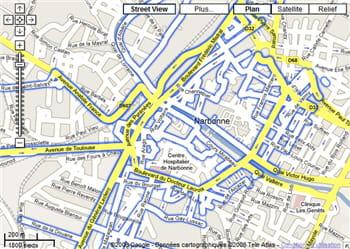 narbonne a également profité du passage des voitures de google maps