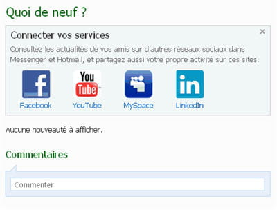 se servir de sa page windows live comme messagerie unifiée