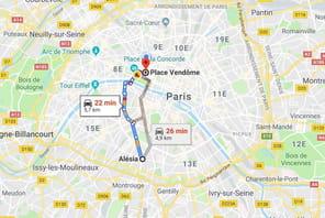 Google Maps: l'appli alerte lorsque le taxi fait un détour