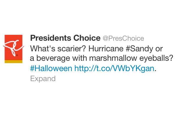 President's Choice: pas mieux non plus