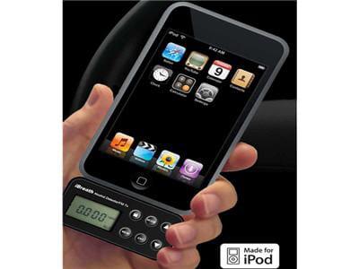l'alcootest se branche comme un récepteur fm sur ipod et iphone