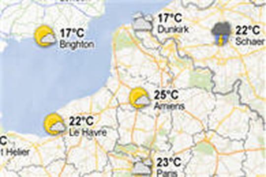 Google s'attaque à Météo France en ajoutant la météo dans Google Maps