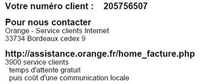 informations utiles sur le service client