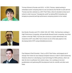 les trois dirigeants de rex computing