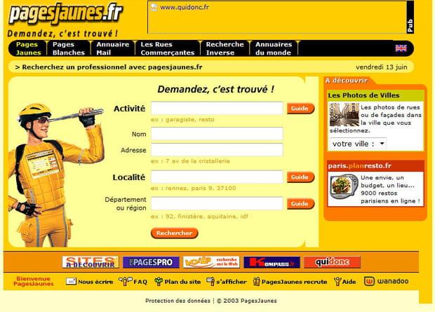 Pages Jaunes en 2003