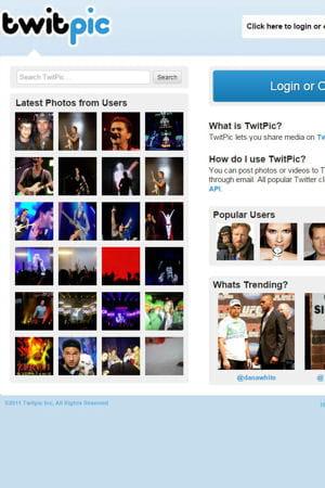 capture d'écran de l'ancien site de twitpic.