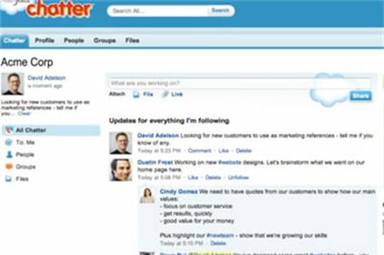 Salesforce injecte de l'analyse sémantique dans Chatter