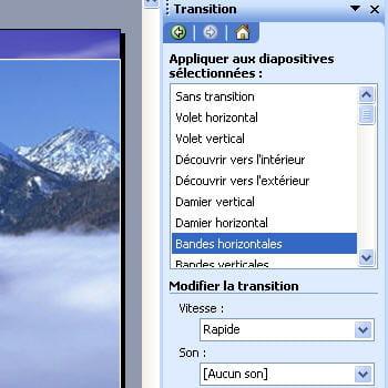 les effets de transition sous powerpoint sont nombreux et variés, mais pas