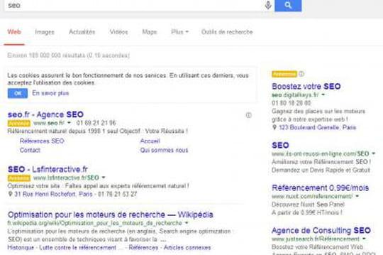 La nouvelle page de résultats de Google déployée