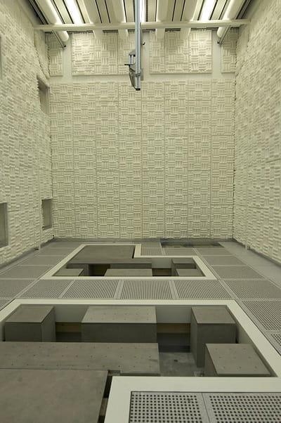 ici, un lab exempt de bruit avec aucun équipement. il s'agit de l'endroit le