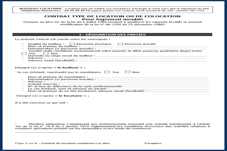 Contrat de location: modèle PDF, Word, gratuit et conforme Alur à télécharger