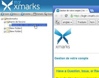 xmarks bookmark sync existe également pour firefox, internet explorer et safari