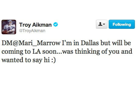 Troy Aikman loupe son DM