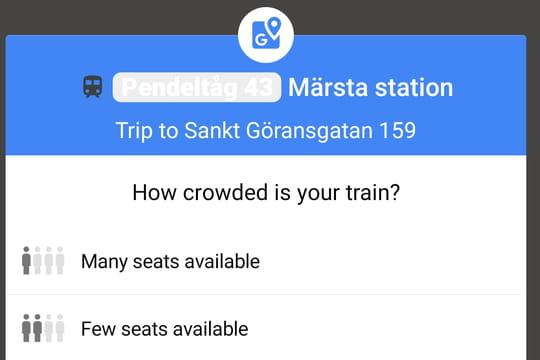 Google Maps bientôt capable de dire si le métro est bondé?