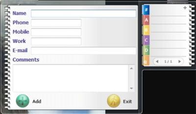une interface simple pour ajouter tous ses contacts