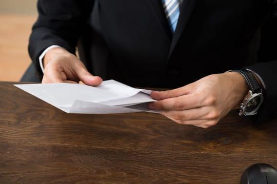 Communication de tarifs à un client