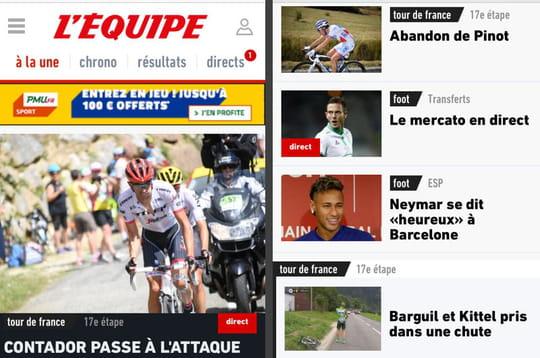 """L'Equipe, premier média français à basculer en """"progressive web app"""""""