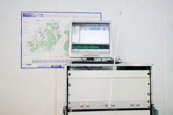 une antenne de réseau dvb-h pour tester la tv mobile au technocentre